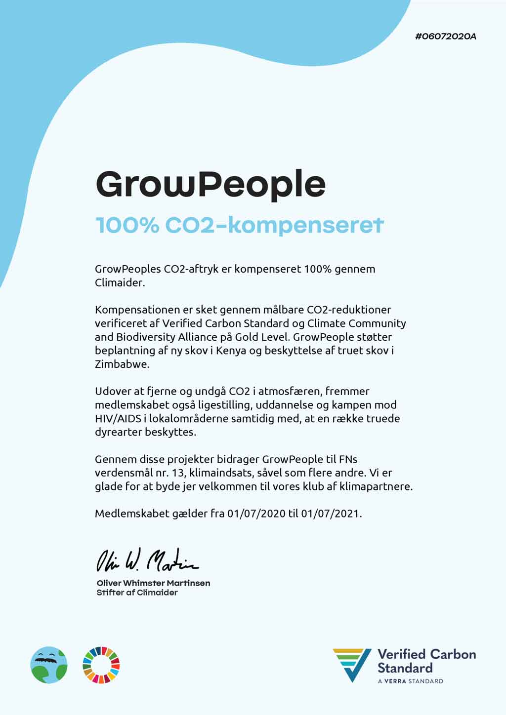 GrowPeople Certifikat Climaider